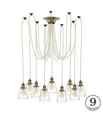 glass shade pendant light chandelier