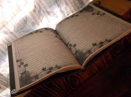 purple leather handmade book of shadows
