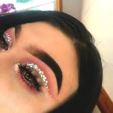 starry pink eyeshadow makeup