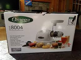 omega 8004 juicer color white plus