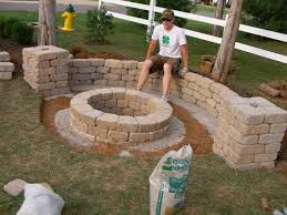 easy backyard fire pit fireplace