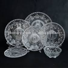 chassis glass dinner set plate and bowl