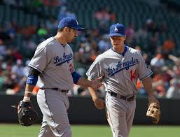 Adrian Gonzalez, Mark Ellis | Los Angeles Dodgers at Baltimo… | Flickr
