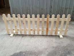 Strong Wooden Free Standing Portable Picket Fence Panels 6ftx3ft Planed Smooth Dg Kg