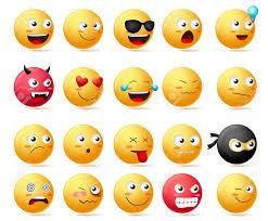 smileys emoji faces vector set smiley