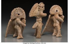 Three Colima Warrior Whistle Figures... (Total: 3 Items) | Lot #70546 |  Heritage Auctions | Inca, Proyectos