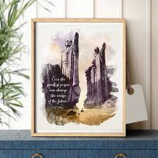 lord of the rings quote wall art canvas print watercolor tolkien