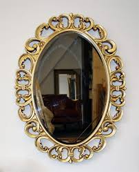 gold baroque oval mirror mille 75 x