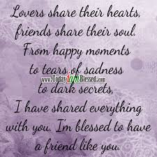 ♥ friendship quotes ♥ lovers share their hearts friends share