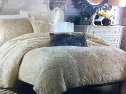 puma faux fur 3 pc queen full duvet