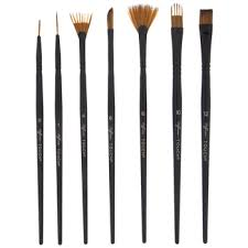 watercolor acrylic brushes 7 piece