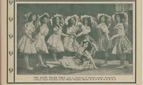 1908 Tiller Girls: Ada Mitchell 3rd from right. Music Hall and Theatre  Review in 2020 | Theatre reviews, Tiller