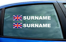 Small British Rally Car Name Decal Sticker Graphics Union Jack Sslawcorp Com