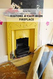how to re a cast iron fireplace