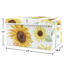 sunflower collection fabric toy bin storage