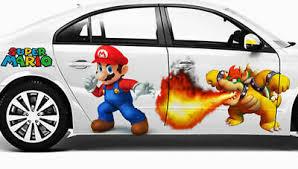 Super Mario Bros Cartoon Full Color Car Graphics Decal Vinyl Sticker Both Sides Ebay