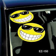 Car Dealer Window Stickers Smiley Face W Sun Glasses 6 Packs Ebay