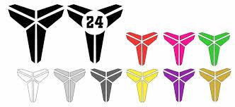 Kobe Bryant Black Mamba Decal Logo For Car Laptop Tumbler Decal Sticker Set Of 2 Oracal Losangeleslakers In 2020 Kobe Bryant Black Mamba Black Mamba Sticker Set