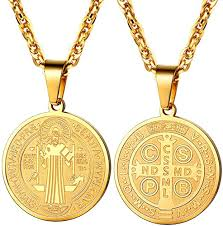 religious cross medal pendant necklace
