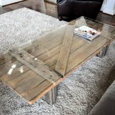 up cycled wood door coffee table with
