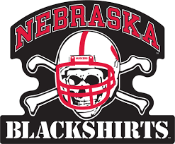 12 Nebraska Blackshirts Vinyl Decal Black Background Wesellspirit Com