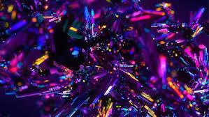 hd wallpaper purple crystals colors