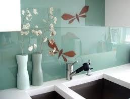 glass backsplashes for kitchen