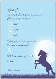 10 Tarjetas De Invitacion Caballos Caballo En La Luna Luz Para