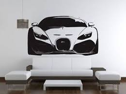 Bugatti Veyron Super Sports Car Wall Decal Sticker Ve88 Car Themed Rooms Car Themed Bedrooms Bugatti Veyron Super Sport