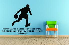 Amazon Com Basketball Quotes Sports Decals Inspirational Wall Decal Stickers For Girls And Boys Room Creative Decoration Vinyl Removable Art Elgin Baylor Size 20x20 Inch Home Kitchen