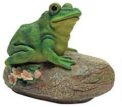 frog garden rock sitting toad statue