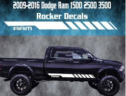 Product 2009 2016 Dodge Ram Rocker Stripe Vinyl Decal Graphic Racing 1500 2500 3500 Hemi