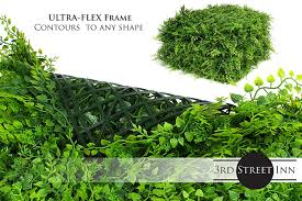 Topiary Greenery Panels 2 Boxwood Great Boxwood And Ivy Substitute Outdoor Artificial Plant 3rd Street Inn Artificial Hedge Sound Diffuser Privacy Fence Hedge