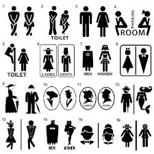 Wc Toilet Wall And Door Decal Sticker Colourful Vinyl Decoration Sign Art Ebay