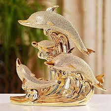gold color plated matte design ceramic