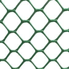 Garden Greenhouse Rigid Green Plastic Hexagonal Fence