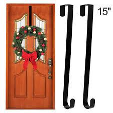 Industrial Scientific Over Door Hooks Fits Easily Over Top Of 2 Wide Door Or Vinyl Fence 15 Black Metal Hook For Hanging Clothes Plants Bags Esfun 4 Pack Over The Door Hanger Hooks