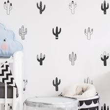 Little Cactus Wall Decals Nordic Style Nursery Diy Wall Decor Removable Vinyl Matt Pvc Stickers For Kids Room Wall Decor Nordicwallart Com
