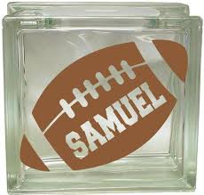 Vinyl Decal Glass Block Decal Football Personalized Name Etsy