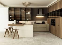 modern veneer melamine kitchen cabinet