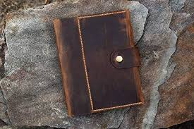personalised a5 leather notebook