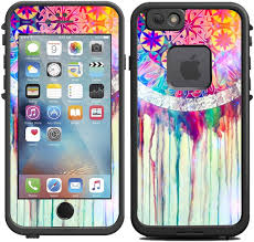 Amazon Com Teleskins Protective Designer Vinyl Skin Decals Stickers Compatible With Lifeproof Fre Iphone 6 6s Case Dream Catcher Painting Design Only Skins And Not Case