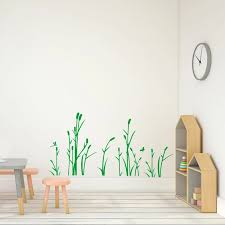 Reed And Dragonfly Wall Decal Grass Vinyl Wall Art Decor Sticker For Living Room Kids Bedroom Decoration Wall Stickers Aliexpress