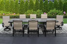 barbados sling outdoor patio 9pc dining