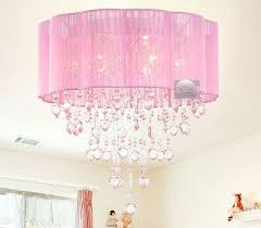 pink drum shade crystal ceiling