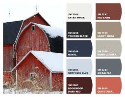 red barn inspiration color palette for