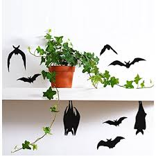 Decal Hanging And Flying Bats Halloween Wall Or Window Decal Qty 10 On One Sheet 10 X 20 These Are Not Window Clings Walmart Com Walmart Com