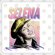 Selena 90s Music Lover Aesthetic Tribute Design Selena Pegatina Teepublic Mx
