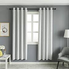 Mangata Casa Blackout Curtains With Night Sky Twinkle Star 2 Panels For Kids Room Printed Star Thermal Insulated Grommet Bedroom Drapes Ivory 52x84in Wantitall