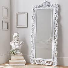 maisy ornate wood carved floor mirror